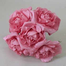 Large Foam Roses Bundle of 5 Rose Pink - R444 U2