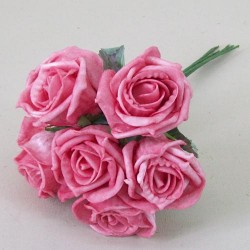 Foam Roses Bundle of 6 Rose Pink - R443 T2