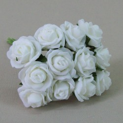 Tiny Foam Roses Bunch Colourfast Ivory - R518 U2