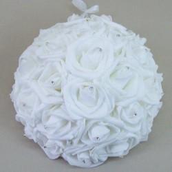 Foam Roses Half Pomander White - R390 BX17