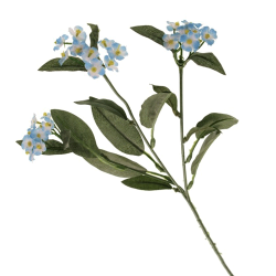 Artificial Forget Me Nots Stem Blue - F054 F3