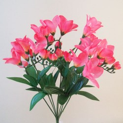 Budget Artificial Freesias Bunch Pink - F056 BX17