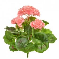 Artificial Geranium Plants Pink 23cm - G098 E2