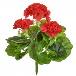 Artificial Geranium Plants Red 23cm - G095 F3