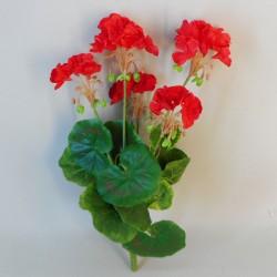 Artificial Geranium Plant Red 36cm - G189 F3