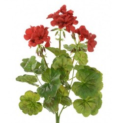 Artificial Geranium Plants Red - G125 F3
