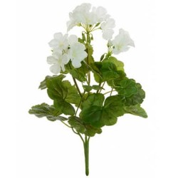 Artificial Geranium Plant White - G109 F3