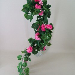 Trailing Artificial Geraniums Plants Mid Pink - G128 AA2