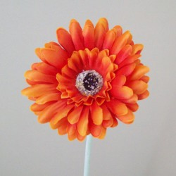 Artificial Gerbera Orange Small - G130 F2