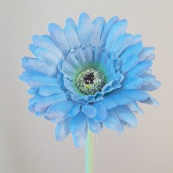 Artificial Gerbera Pastel Blue Small - G129a F2