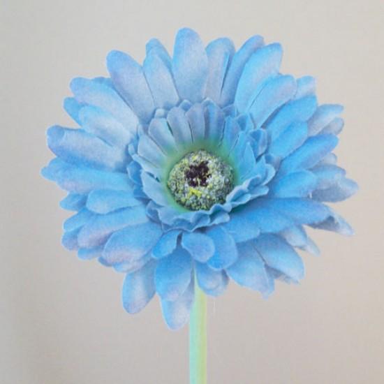 Artificial Gerbera Pastel Blue Small - G129a F2