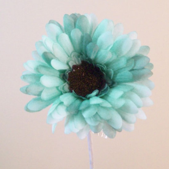 Silk Gerbera Teal Blue - G044 KK2