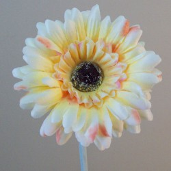 Artificial Gerbera Lemon Small - G143 F2