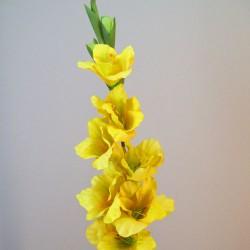 Artificial Gladiola Sunshine Yellow - G144 F3