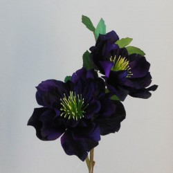 Artificial Hellebore Stem Midnight Purple - X19084 EE1