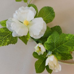 Artificial Hollyhocks Garlands White - H071 AA3