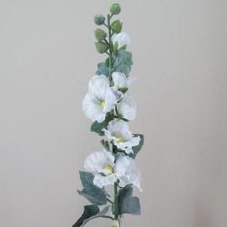 Silk Hollyhocks White Artificial Flowers - H076 E1