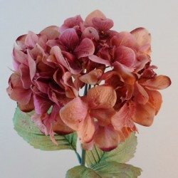 Antique Hydrangea Dark Pink | Faux Dried Flowers - H197 F4