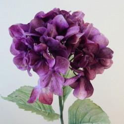 Antique Hydrangea Dusky Aubergine | Faux Dried Flowers - H198 F4