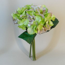 Artificial Hydrangeas Posy Green and Lavender - H149 GG3