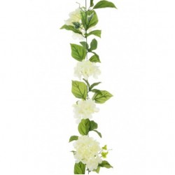 Artificial Hydrangea Garland Cream 180cm - H039 H4