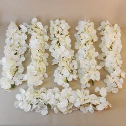 Artificial Hydrangea Garland Cream 6 x 40cm - H029 EE4