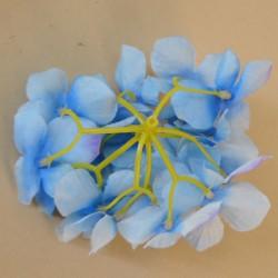 Artificial Hydrangeas Blue Heads Only 11cm - H085