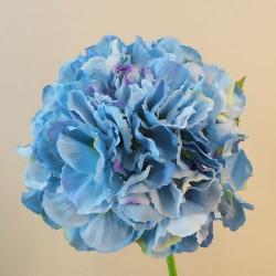 Artificial Hydrangeas Blue Mophead Short Stem - H147