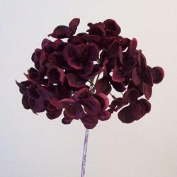 Artificial Hydrangea Burgundy - H105 E4