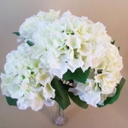 Silk Hydrangeas Bush Cream - H101 H3