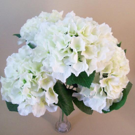 Silk Hydrangeas Bush Cream - H101 H2