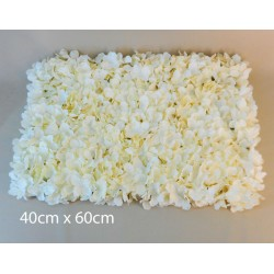 Artificial Hydrangea Flower Wall Panel 40cm x 60cm Cream - H189