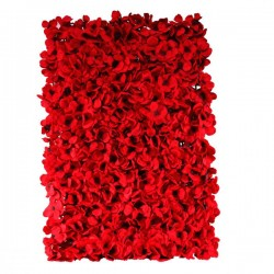 Artificial Hydrangea Flower Wall Panel 40cm x 60cm Red - H110