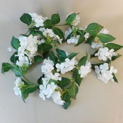 Artificial Hydrangeas Garland White 180cm - H003 G1