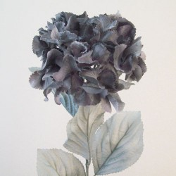 Artificial Hydrangeas Grey with Grey Leaves - H046 G4