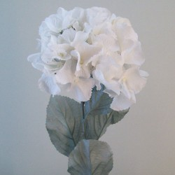 Artificial Hydrangeas Oyster Cream with Grey Leaves - H047 FF1