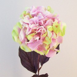 Artificial Hydrangeas Pink Green - H017 H1
