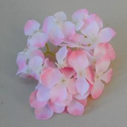 Artificial Hydrangeas Pink Heads Only 11cm - H065