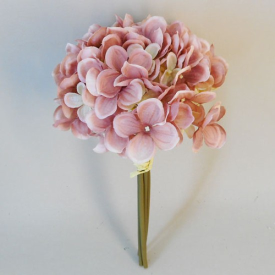 Artificial Hydrangeas Bundle Blush Pink Peach - H143 D1