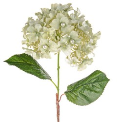 Artificial Hydrangeas Sage Green Pearl Wedding - H184 I1