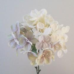 Downton Silk Hydrangea Flowers Cream - H015 G2