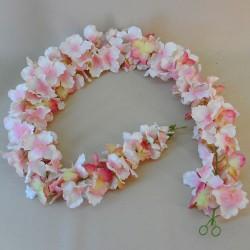 Artificial Hydrangea Garland Pink 120cm - H160 EE1
