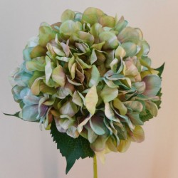 Large Artificial Hydrangeas Green and Duck Egg - H073 G1