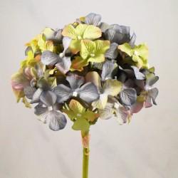 Silk Hydrangea Flowers Vintage Blue - H079 LL4
