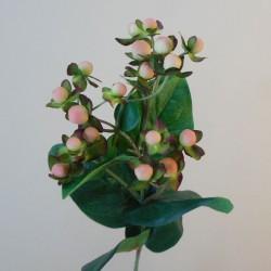 Artificial Hypericum Berries Pink 72cm - H023 G2