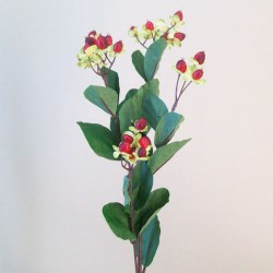 Artificial Hypericum Berries Red - H138 F3