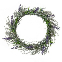 Artificial Lavender Wreath - L056a BX3