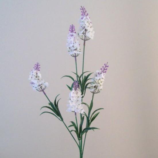 Artificial Silk Lavender Stem White - L006 H4