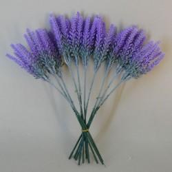 Artificial  Sussex Lavender 10 Pack - L026 L2
