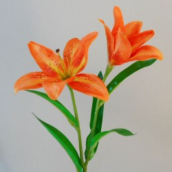 Artificial Tiger Lilies Orange 46cm - L027 G2